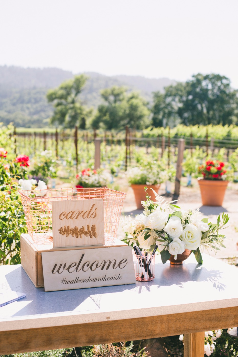 Welcome table