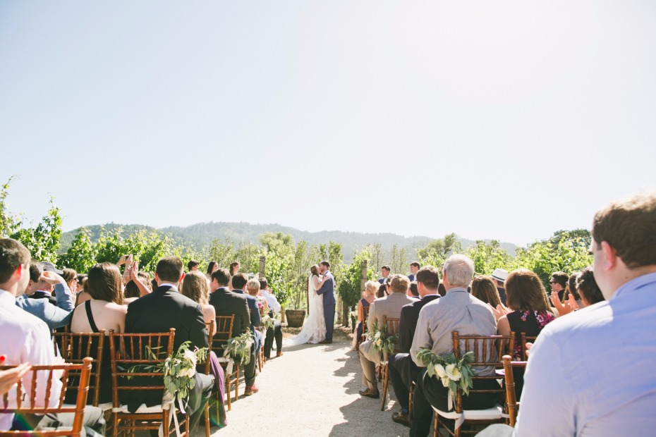 Romantic vineyard ceremony