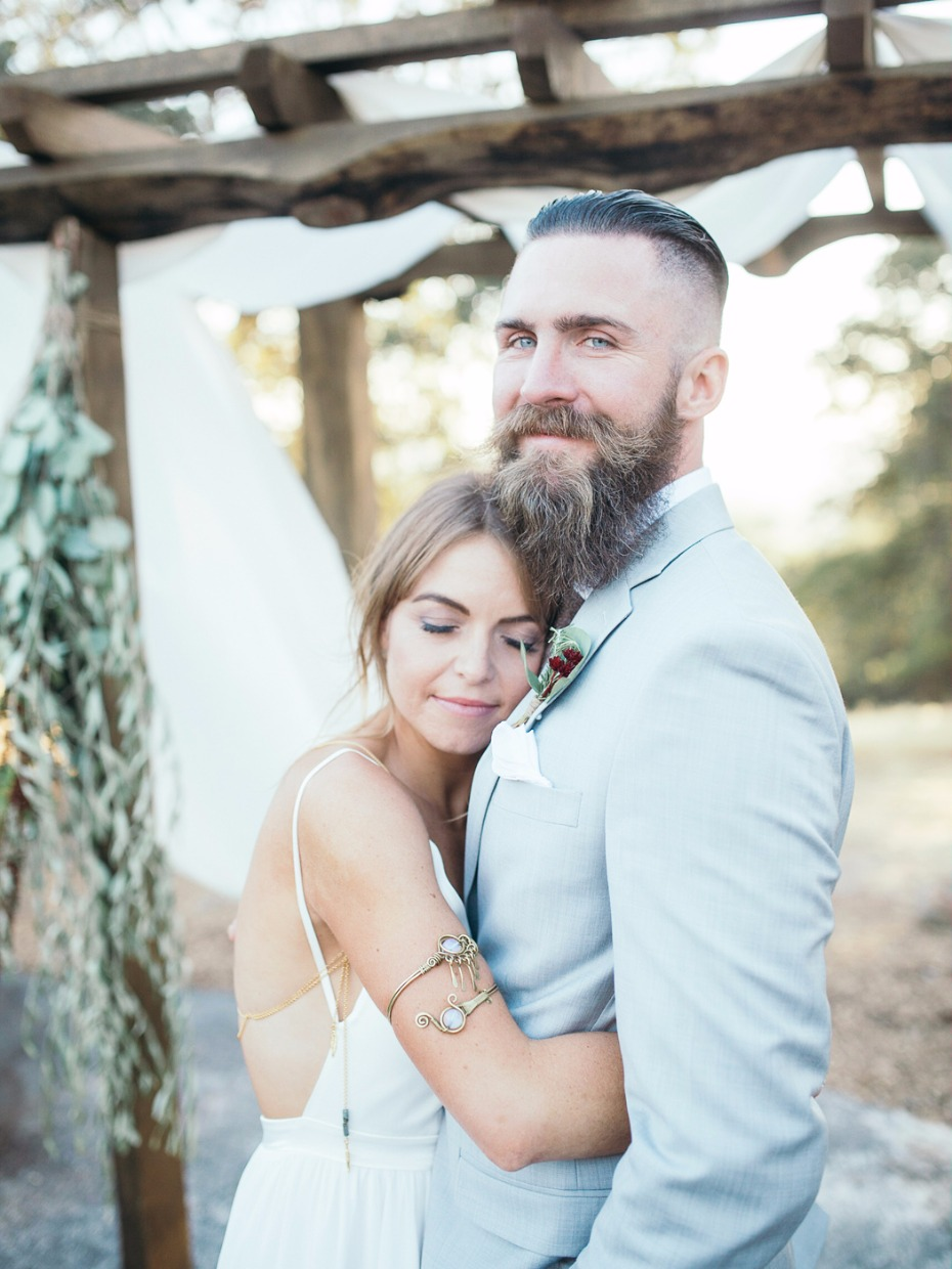 sweet and loving bride and groom portrait idea
