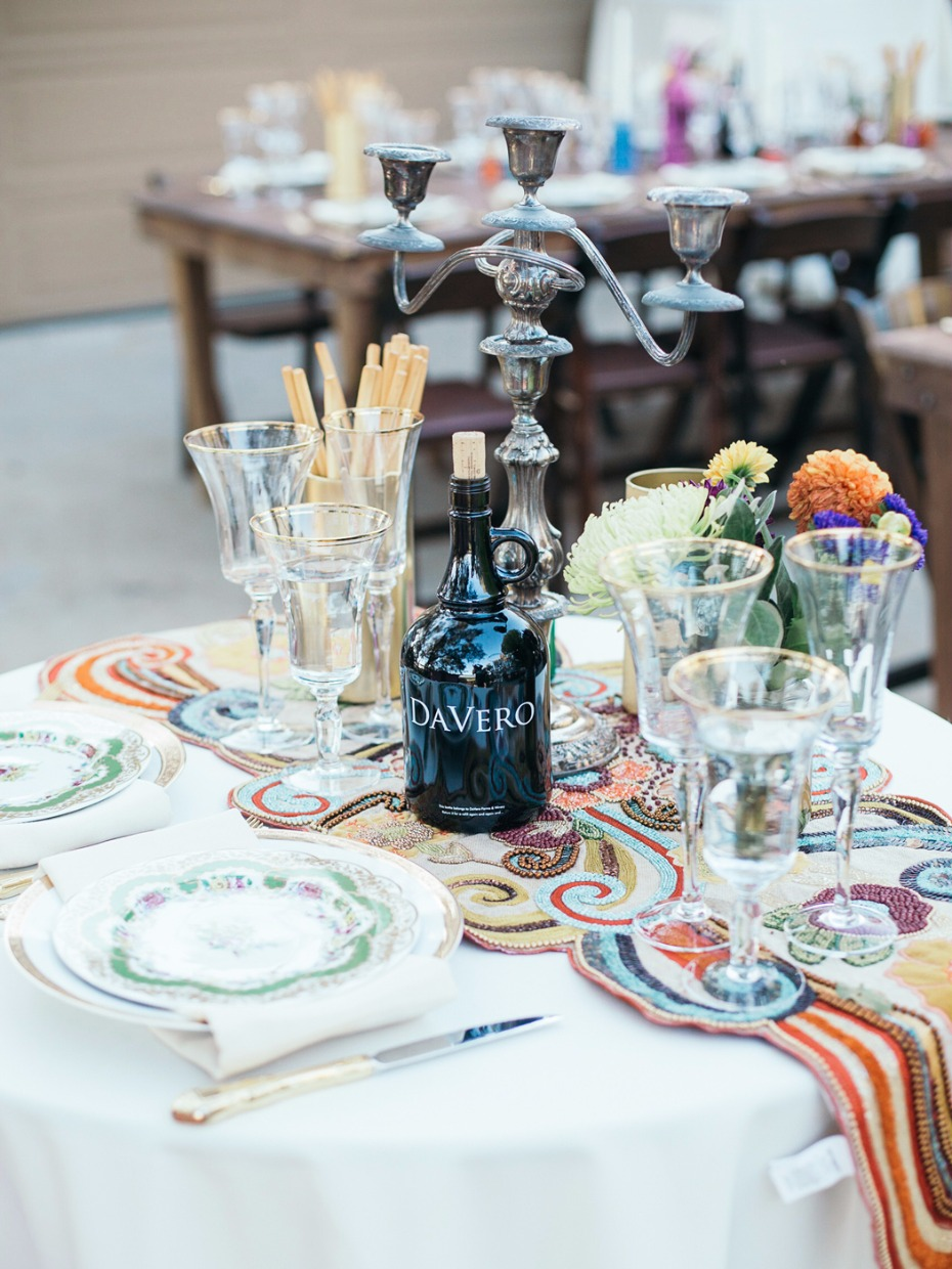 unique boho chic table runner sweetheart table