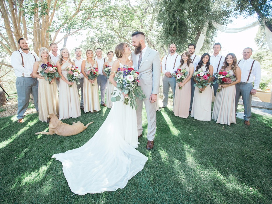 wedding party style for your summer time wedding