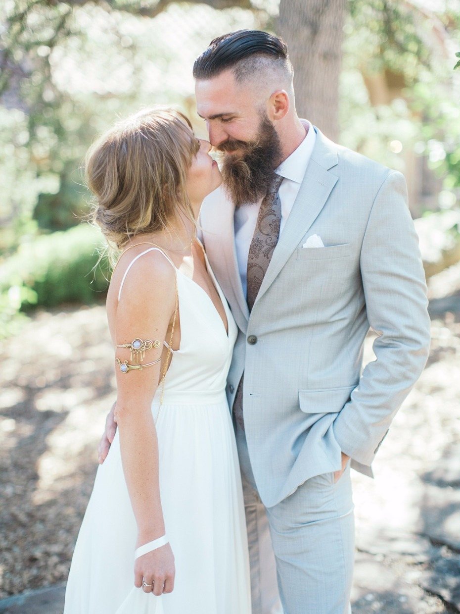 sweet summertime bride and groom style