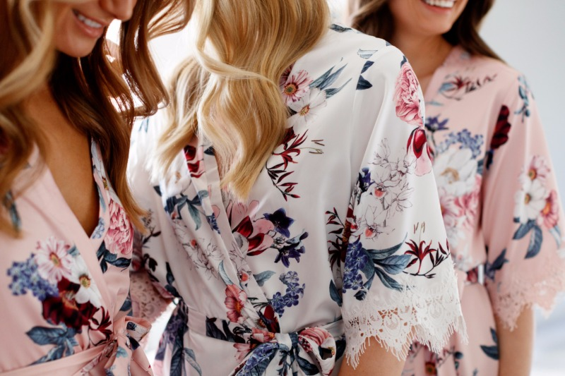 Floral satin robes for a cute price too. Shop our robes for your Bridal party