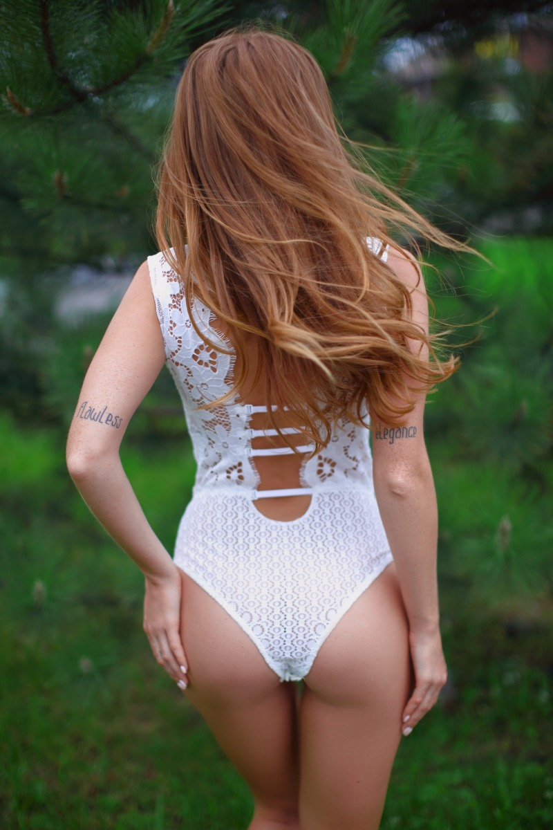 Lace bodysuit for your wedding night