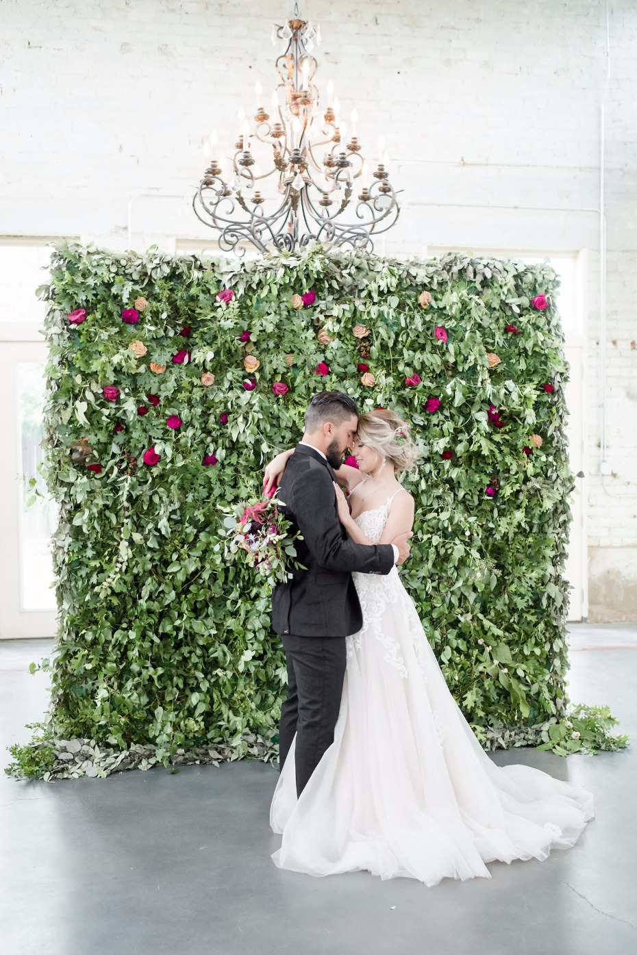 elegant rose and greenery backdrop