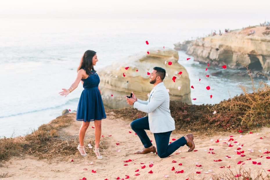 sunset cliffs surprise proposal