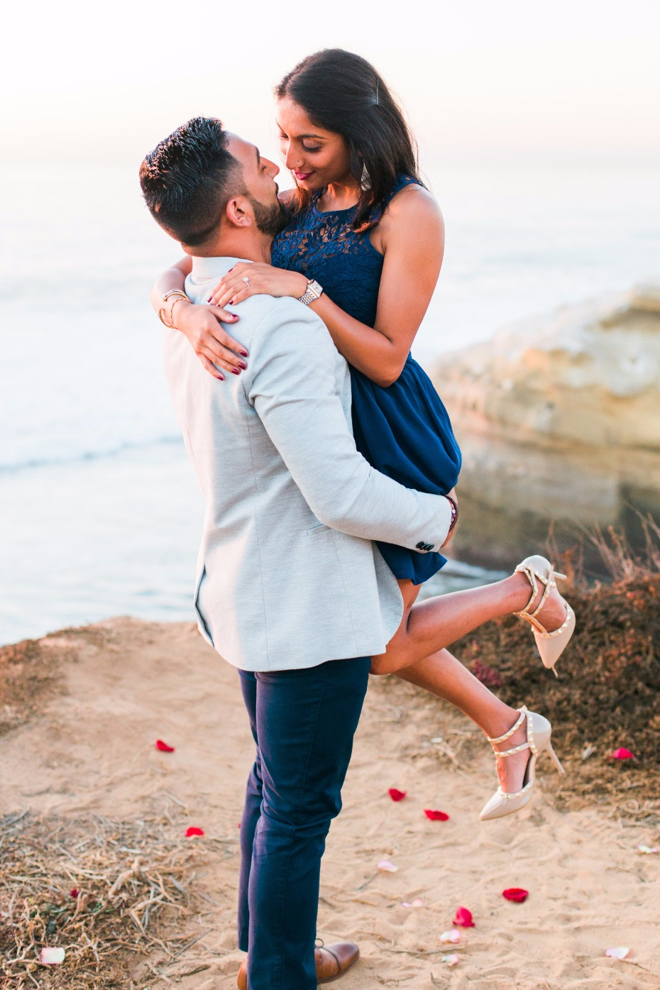 sweet sunset proposal shoot
