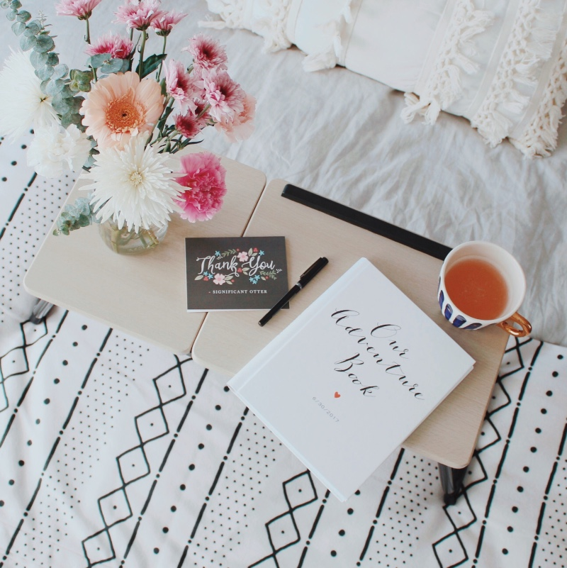 Wedding guest books are a major part of your day of stationery. They can also be used in other creative ways since they are fully customizable