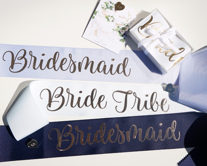 Bridal sashes for your bachelorette parties add the perfect touch!