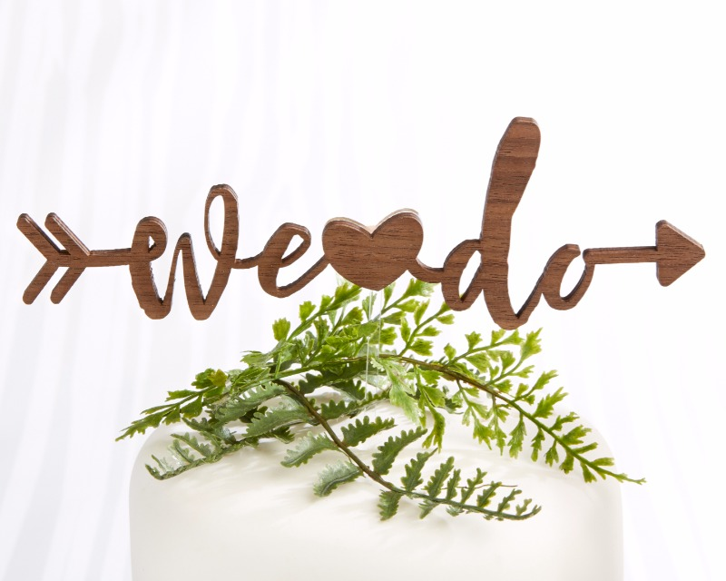 🍰 Say I do! with this wood design We Do Cake Topper!