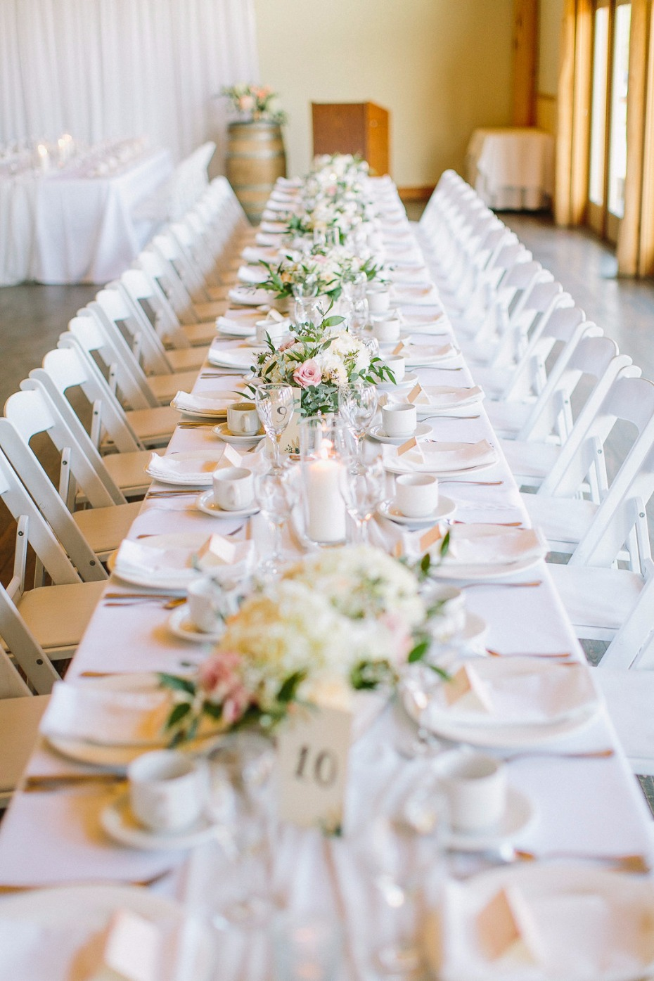 Fresh and clean tablescape
