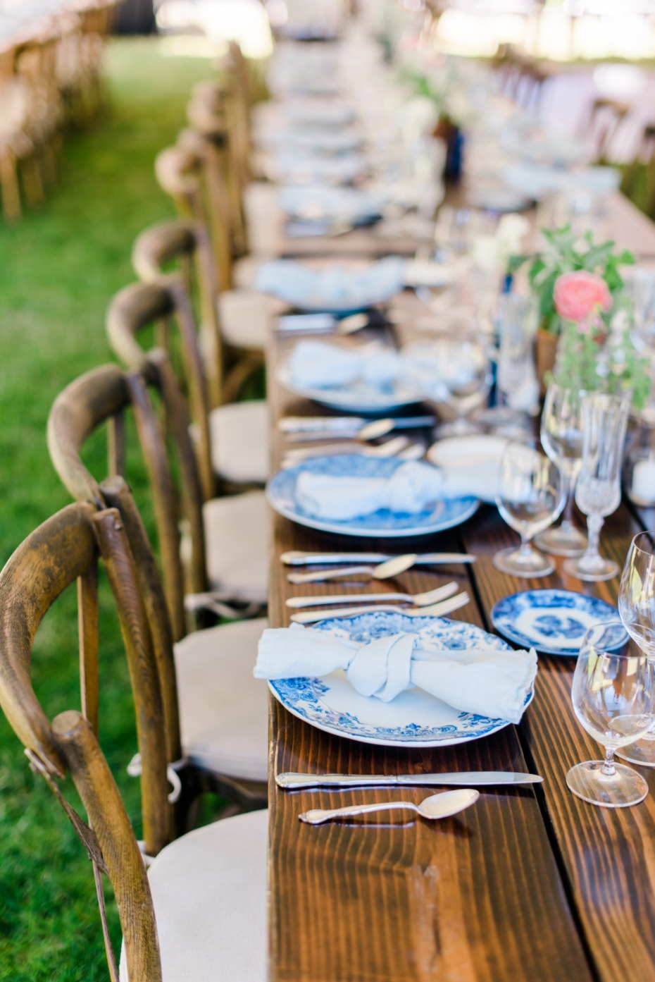 boho chic wedding table decor with a rustic laid back vibe