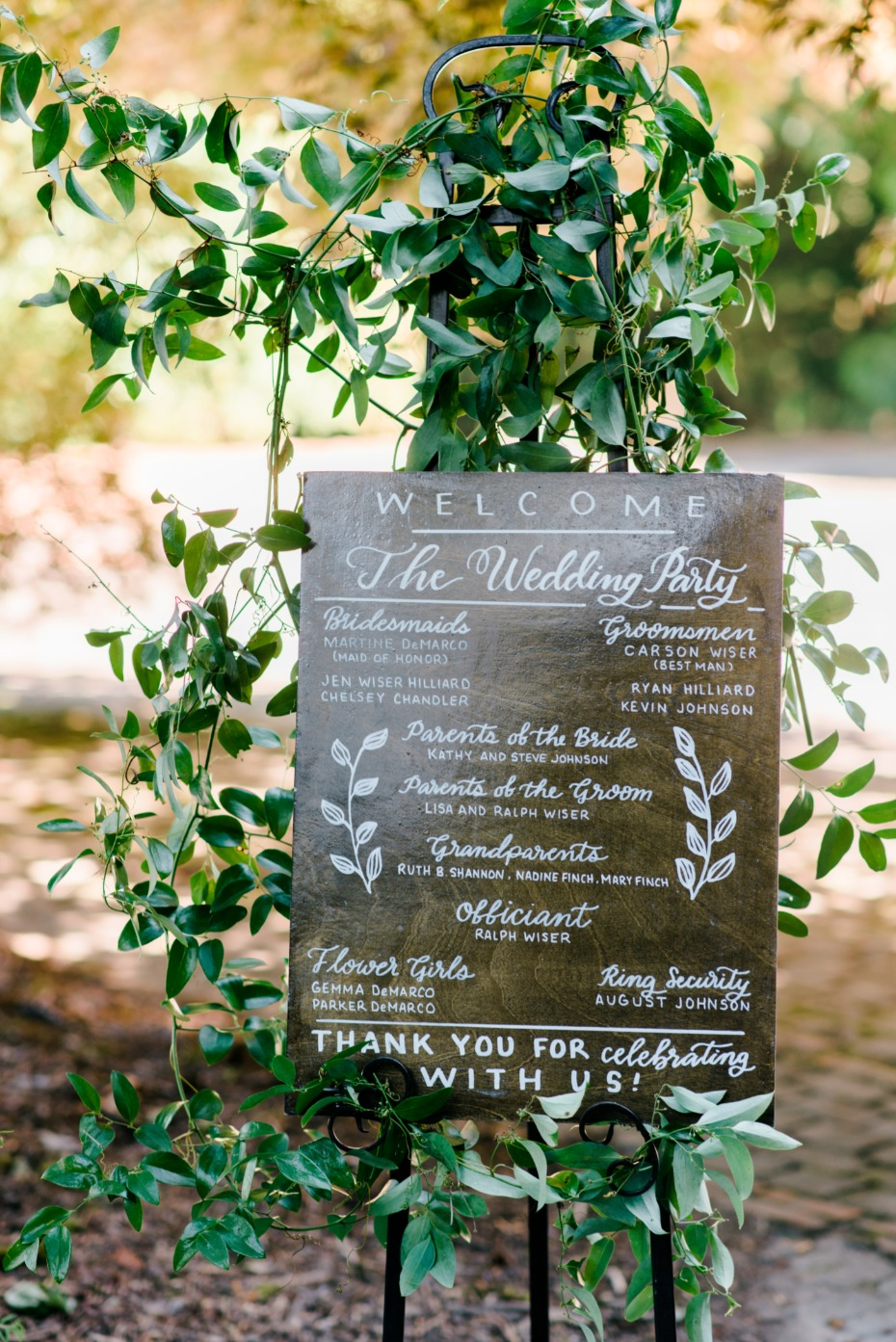 wedding program sign, less printing costs and saves a few trees