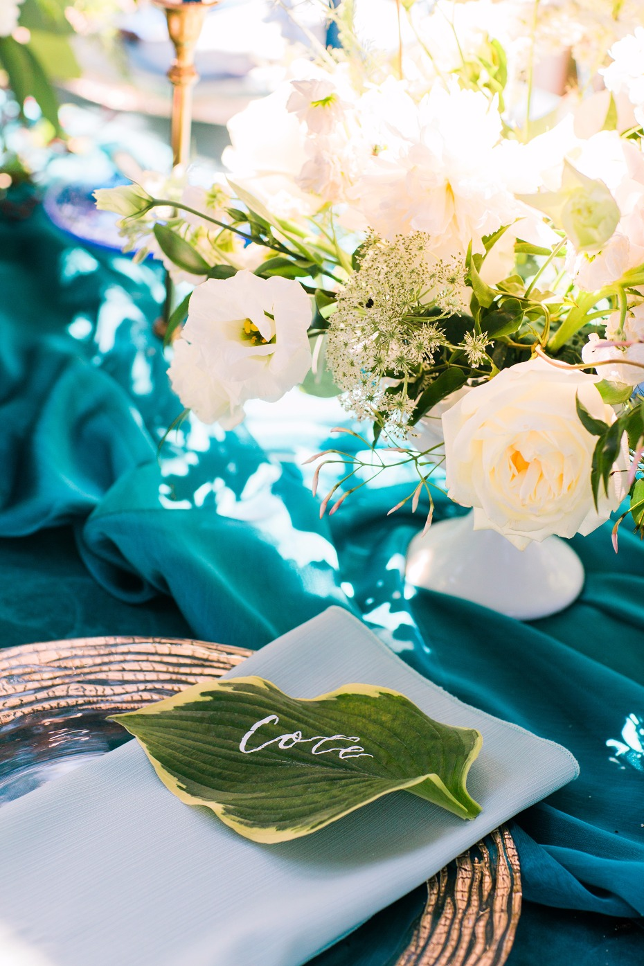 Leafy green place card
