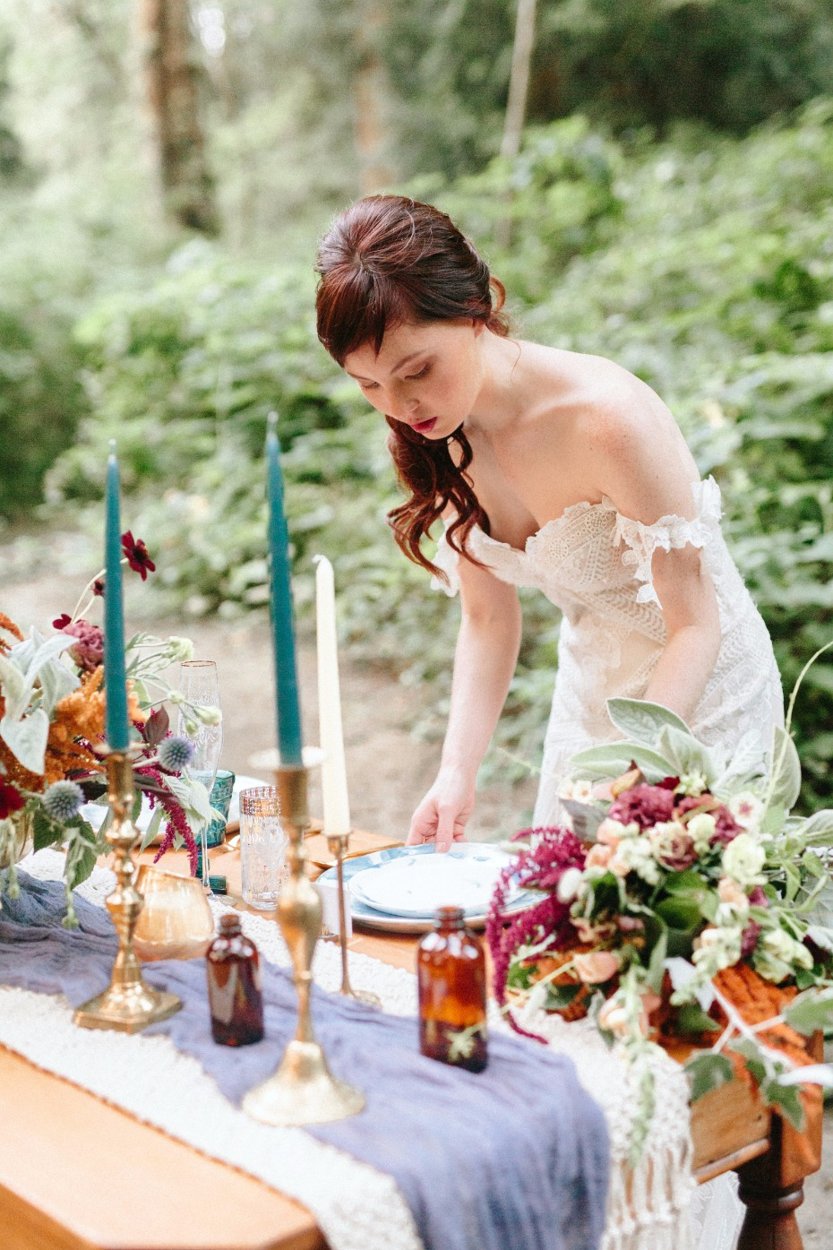 setting the table for your boho style wedding