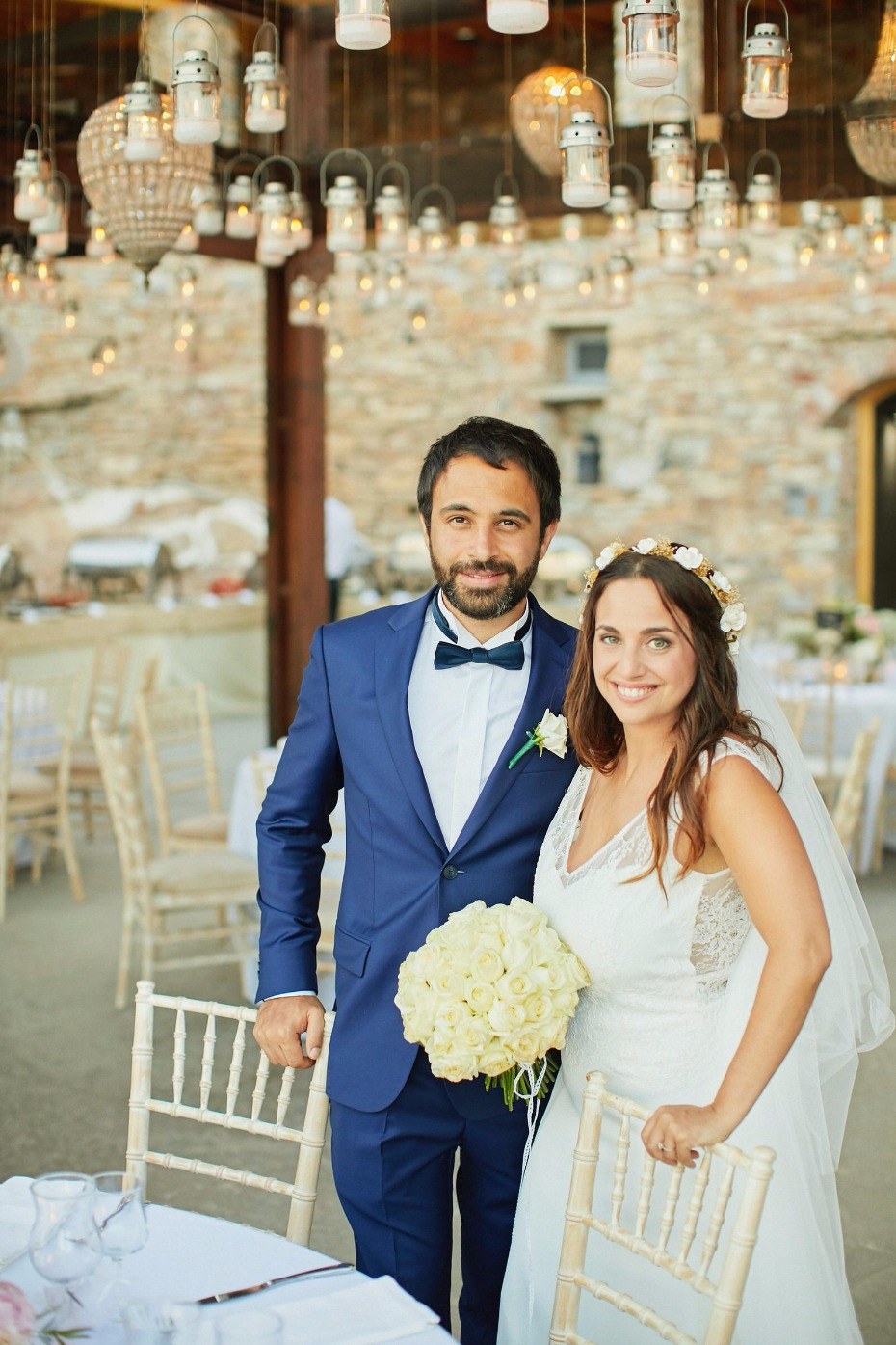 bride and groom in their fairy tail wedding reception