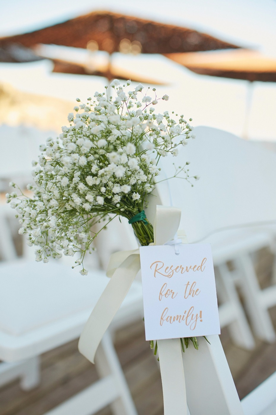 reserved for the family wedding sign
