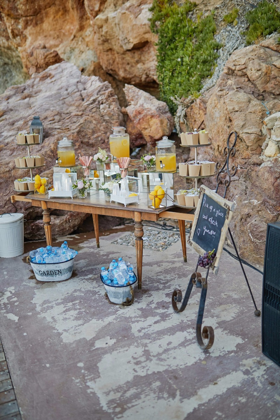 drink station for your outdoor wedding