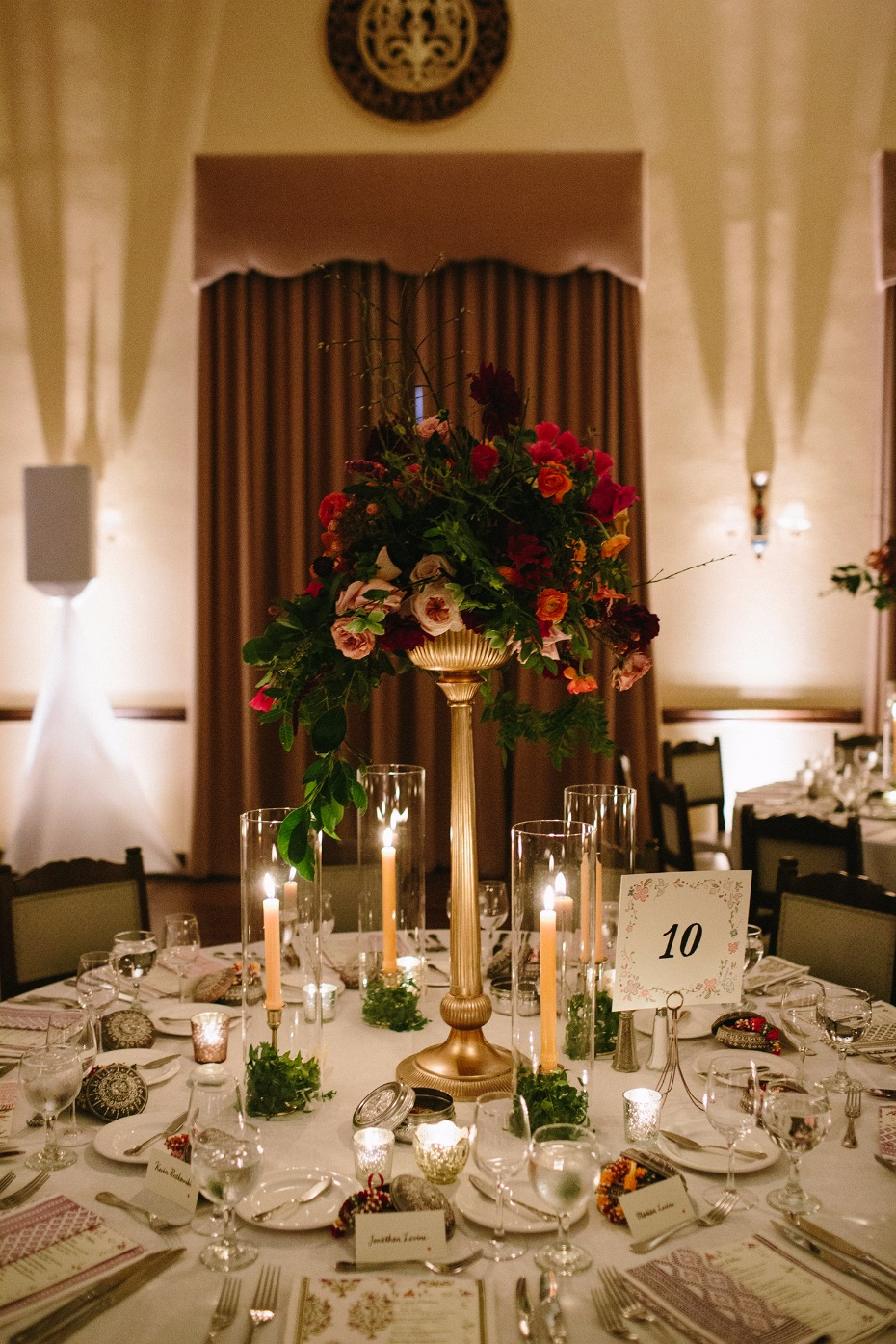 Dramatic floral centerpiece