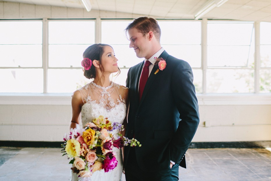 Beautiful colorful wedding