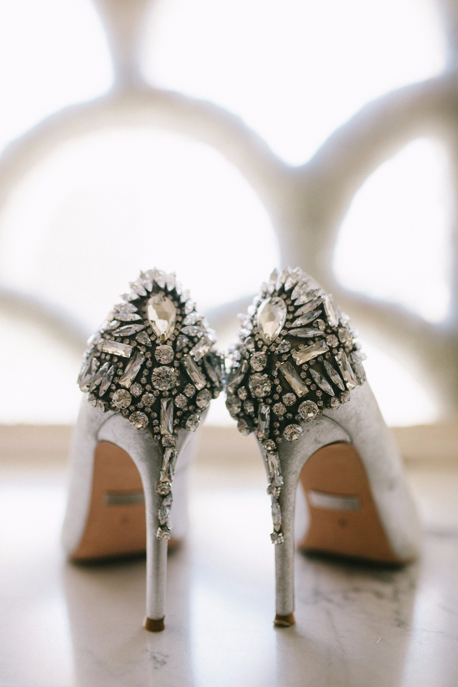 Embellished pumps for the bride-to-be