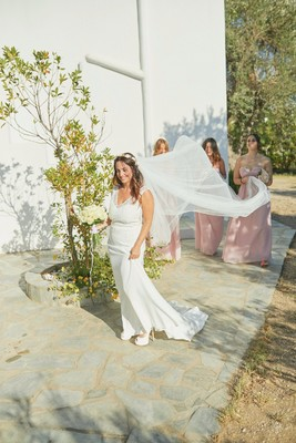 I Dream Of A Blush and White Grecian Island Wedding, Yes Please!