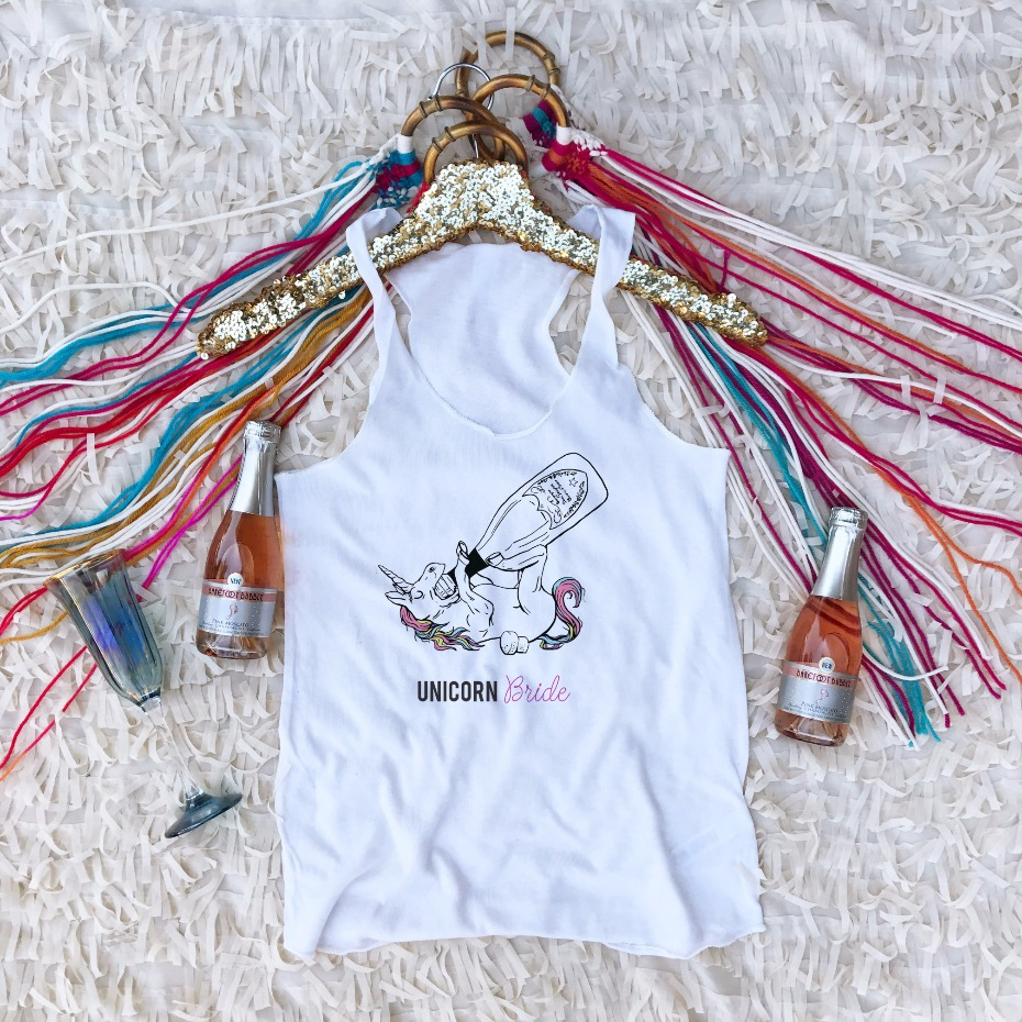 Wedding Chicks shop Unicorn Tank