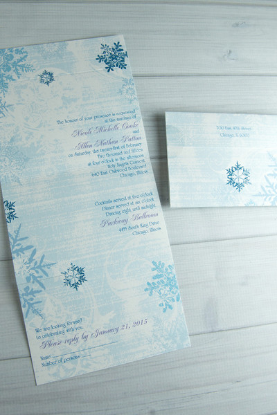 Wedding Invitations & Cakes For Cold Weather Weddings