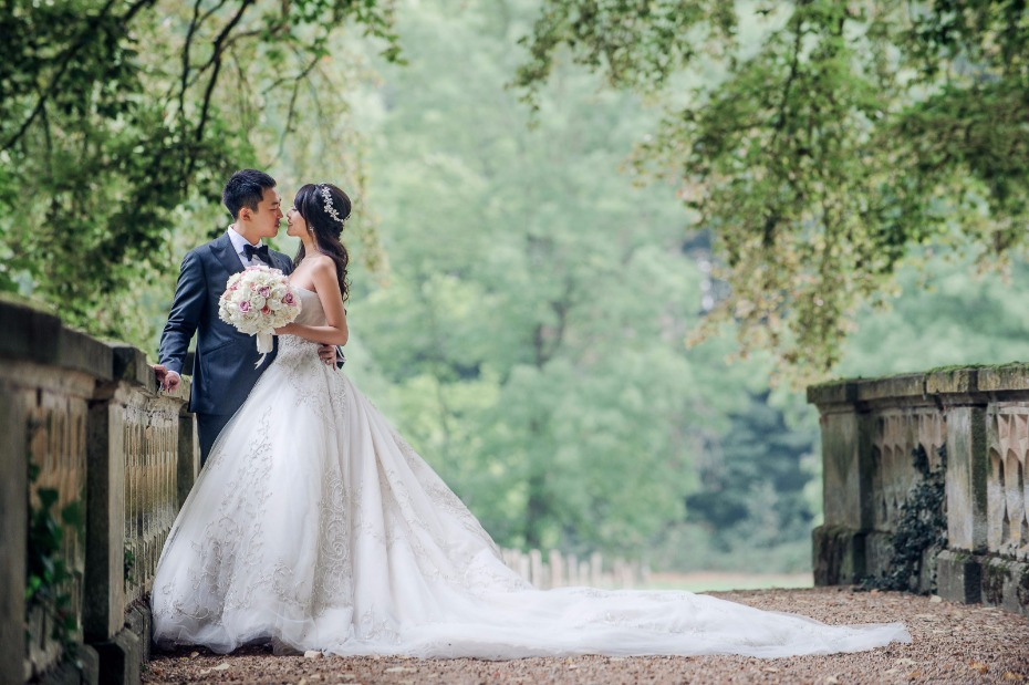 princess style wedding gown for your classic castle wedding
