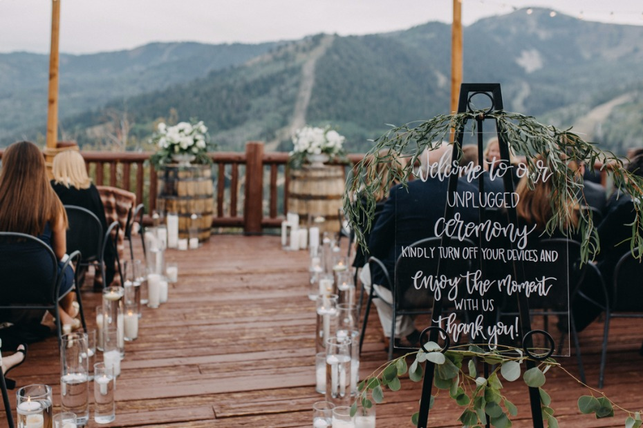 romantic and intimate mountain top wedding ceremony