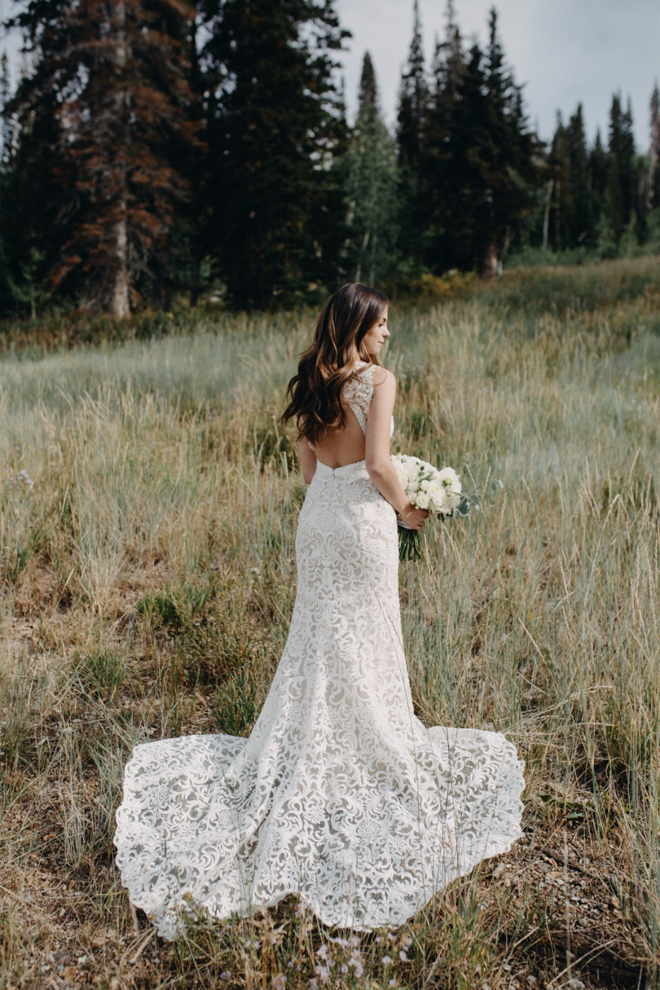 fit and flair wedding dress