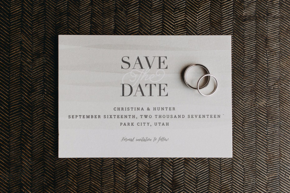 Sweet and simple Save The Date wedding stationery