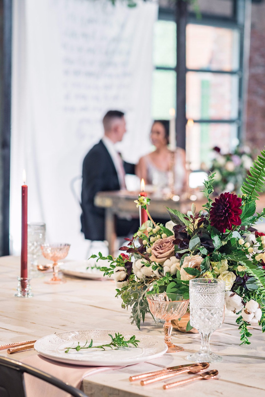 Modern chic reception at Events On Jackson
