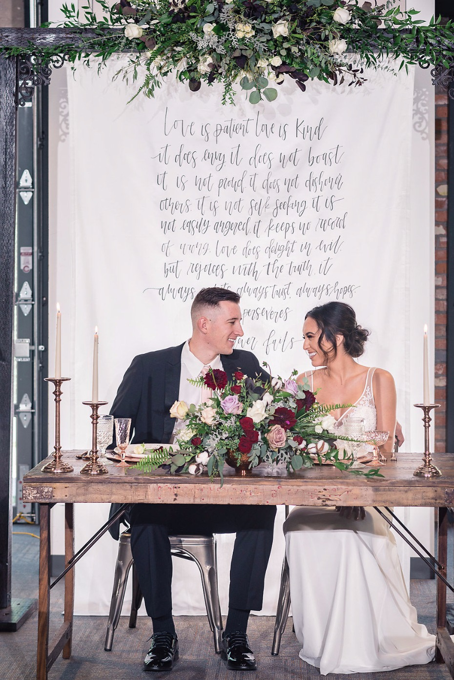 Gorgeous sweetheart table for two
