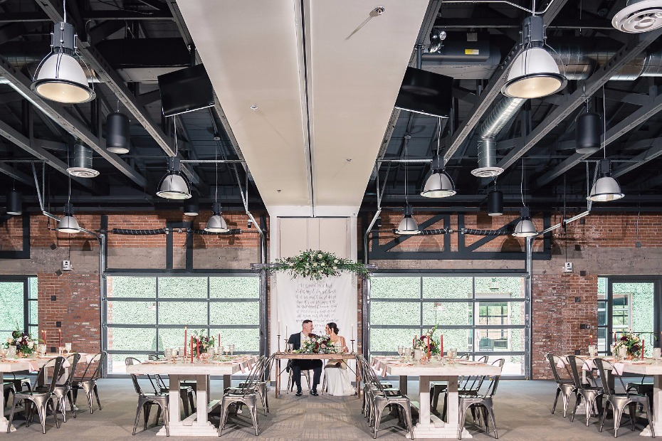 Industrial event space at Events On Jackson