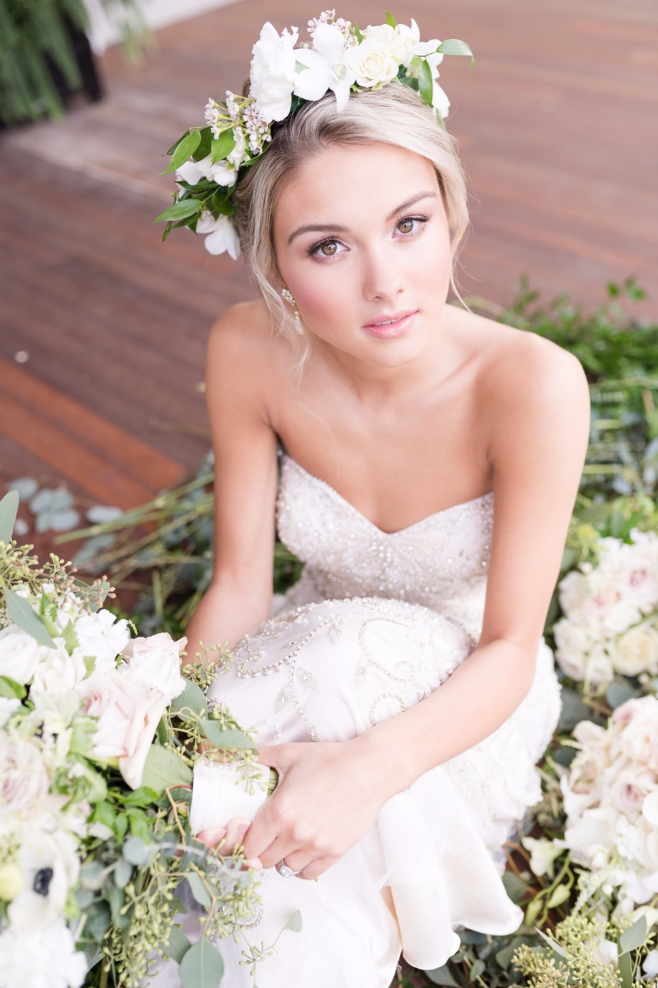 simple and sweet bridal makeup