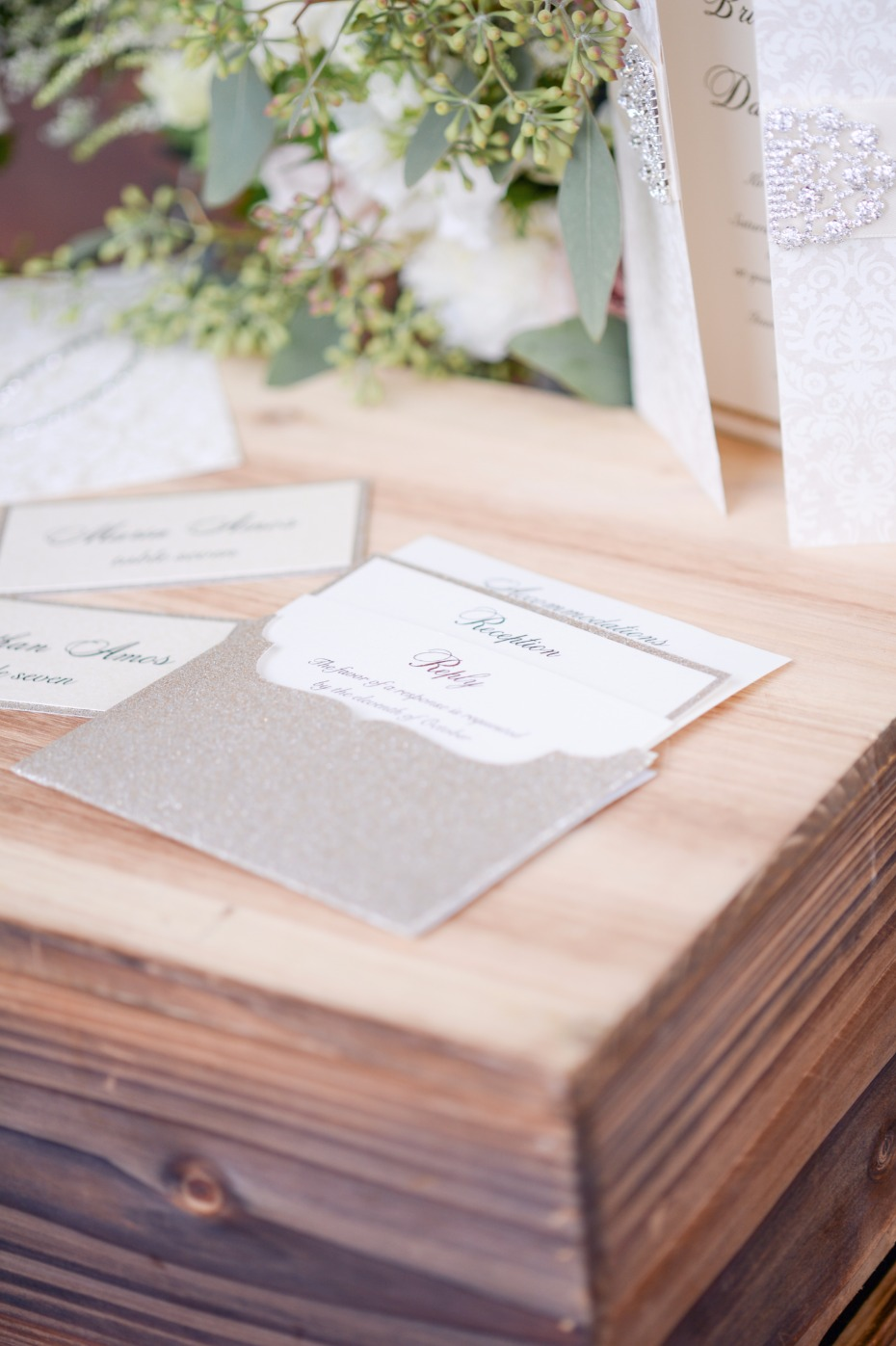 rsvp and reception detail cards for your wedding stationary