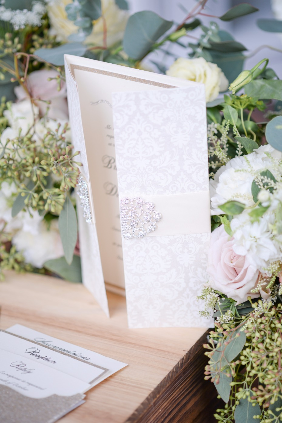 elegant blinged out wedding invitation