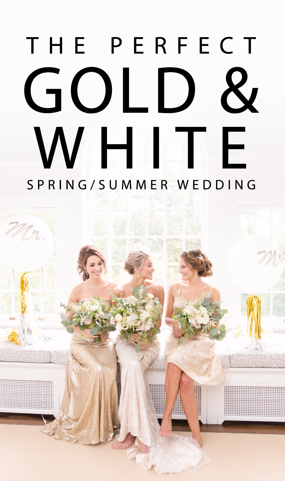 the perfect gold and white spring summer wedding