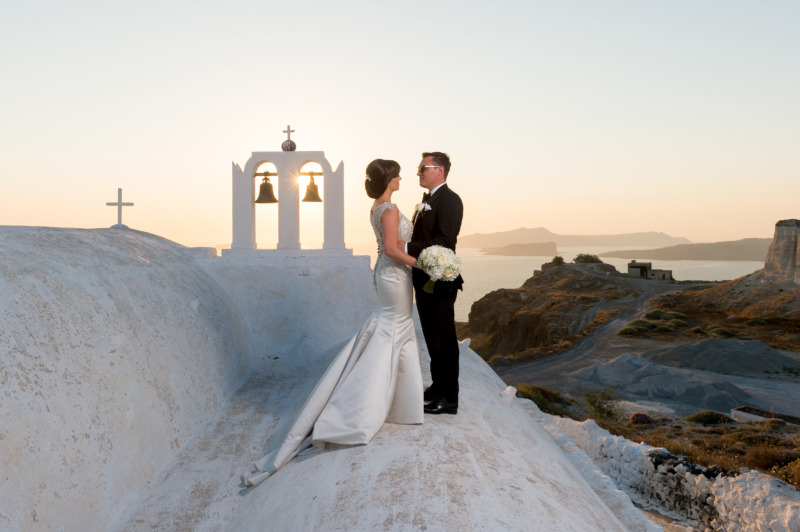 Mr and Mrs ! Photo from real destination wedding in Santorini. See more
