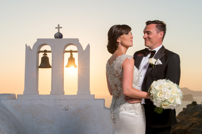 Mr and Mrs! Photo from real destination wedding in Santorini. See more