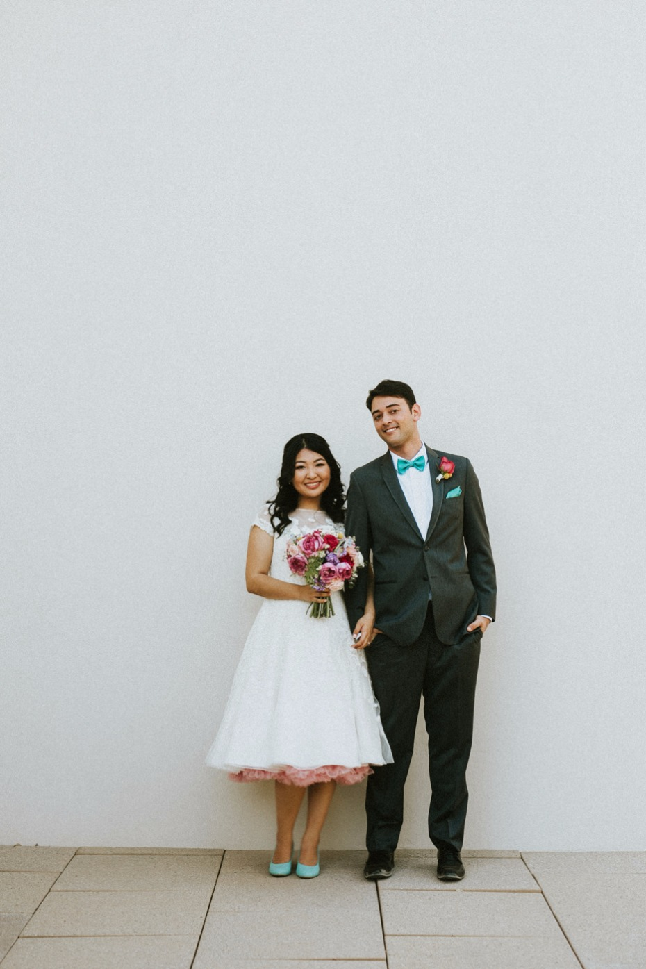 Cute and colorful wedding