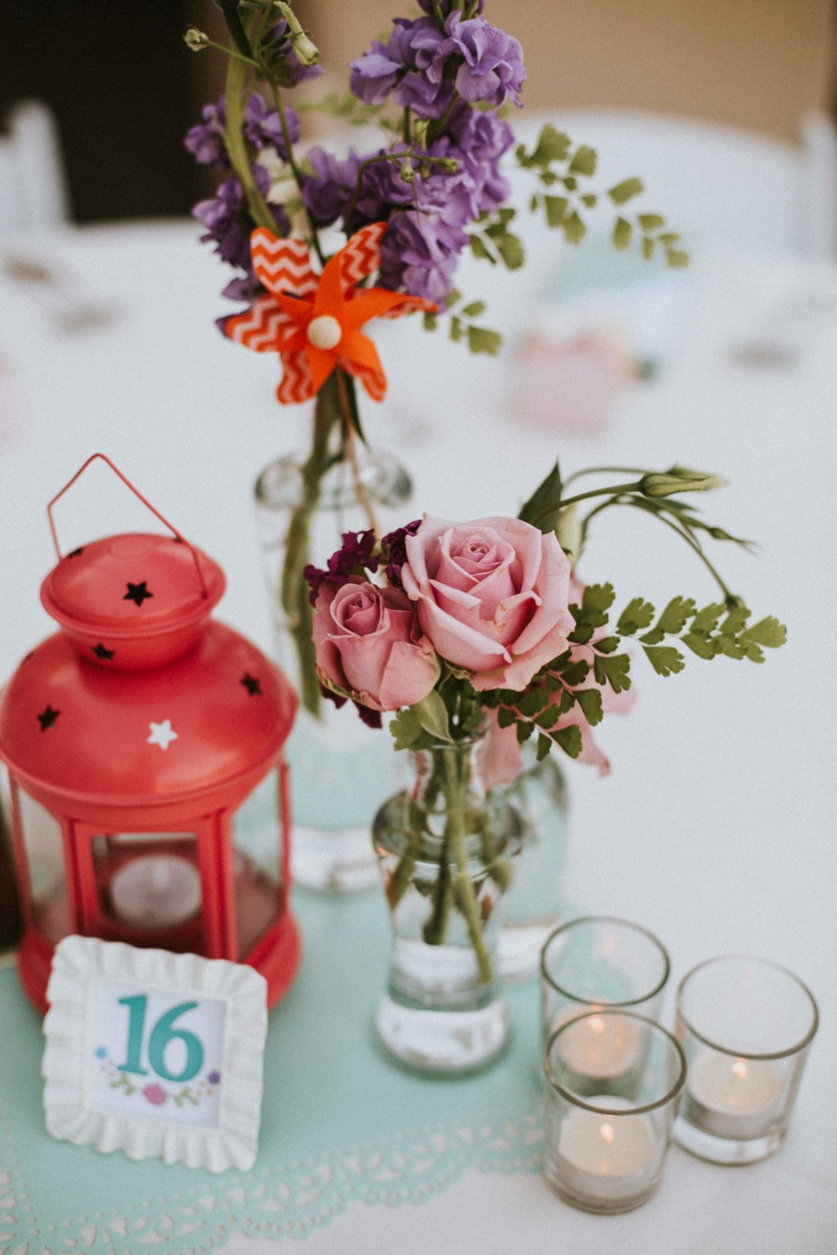 Cute eclectic centerpiece