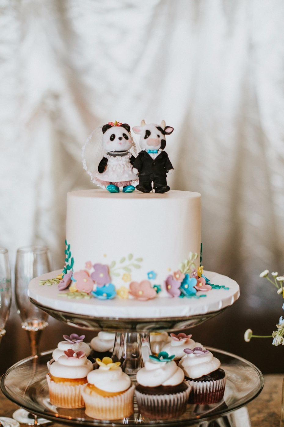 Panda and cow topper