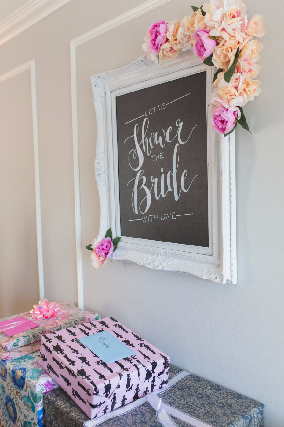 Bridal shower sign idea