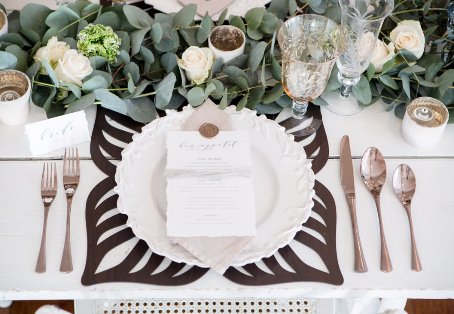 Butterfly place setting