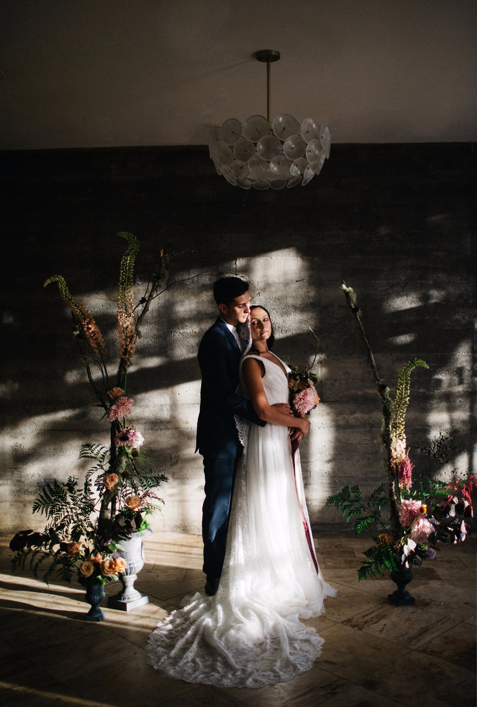 Natural lighting for an elegant ceremony