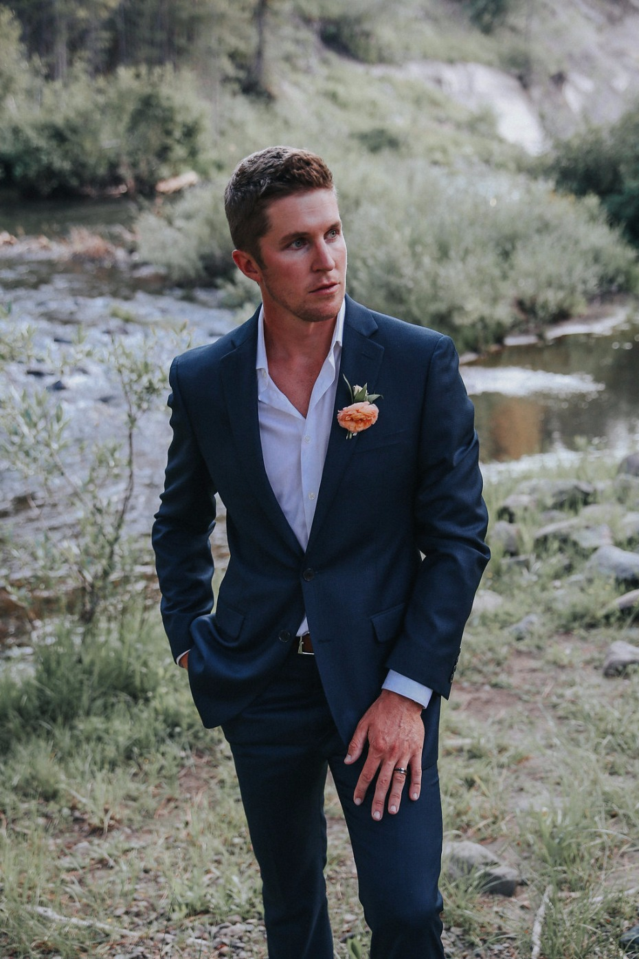 formal yet casual groom style
