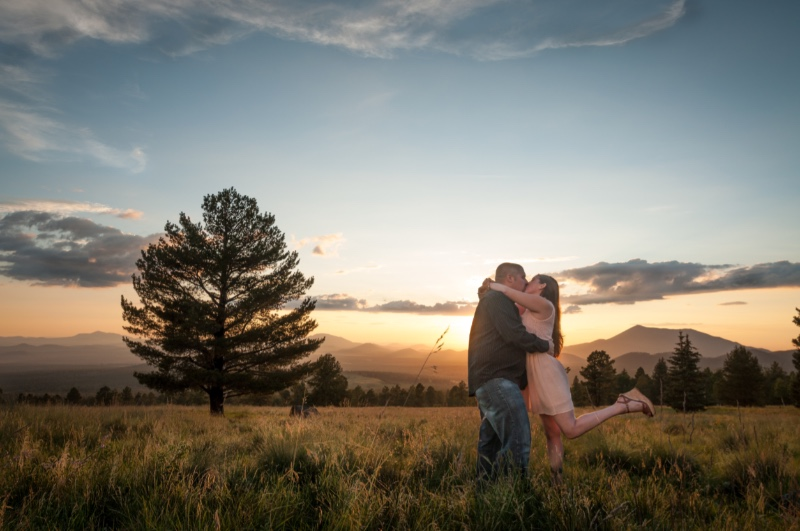 A gorgeous meadow sunset for this lovely engagement session!