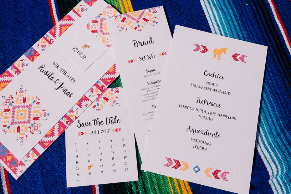 stationery for your fiesta wedding